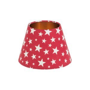 Red Stars Empire Lampshade Brushed Copper Inner