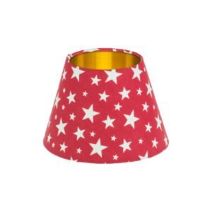 Red Stars Empire Lampshade Brushed Gold Inner