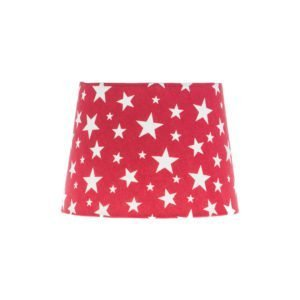 Red Stars French Drum Lampshade