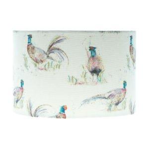 Dashing Pheasant Drum Lampshade