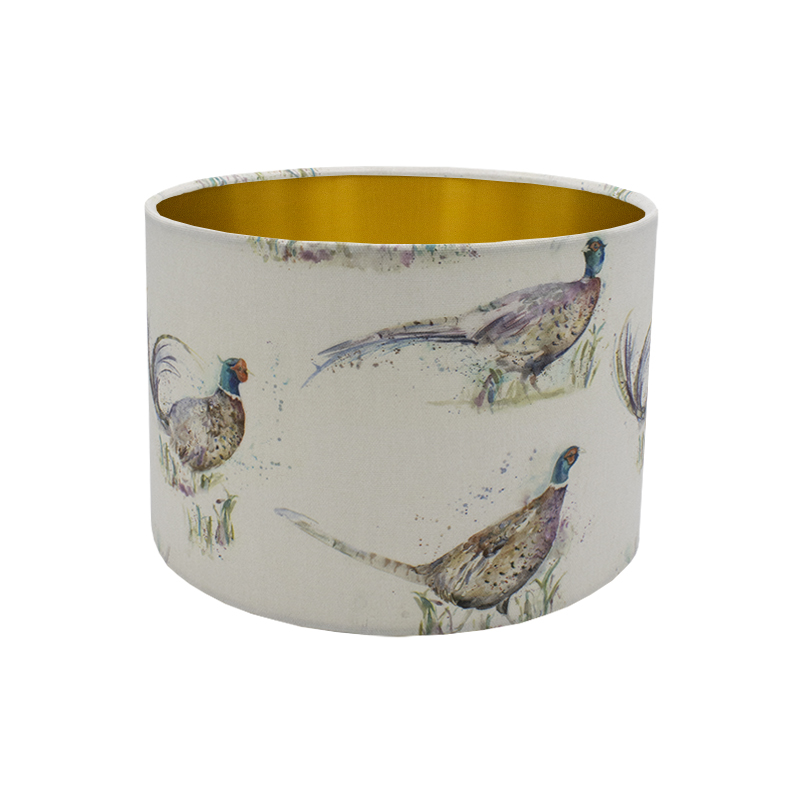 Voyage Dashing Pheasant Drum Lampshade