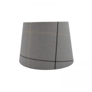 Winsford Grey Tartan French Drum Lampshade