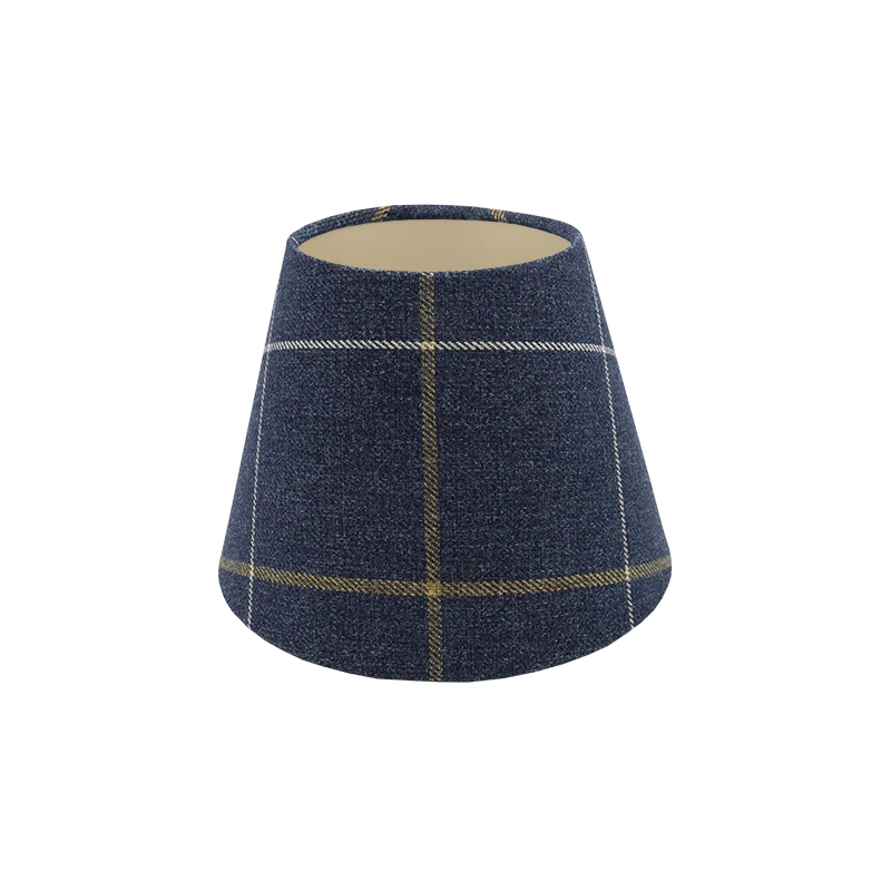 Winsford Navy Blue Tartan Empire Lampshade