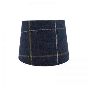 Winsford Navy Blue Tartan French Drum Lampshade