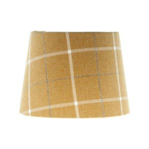 Winsford Ochre Tartan French Drum Lampshade