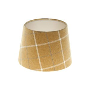 Winsford Ochre Tartan French Drum Lampshade Champagne Inner
