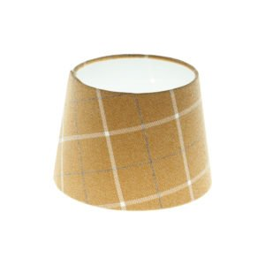 Winsford Ochre Tartan French Drum Lampshade