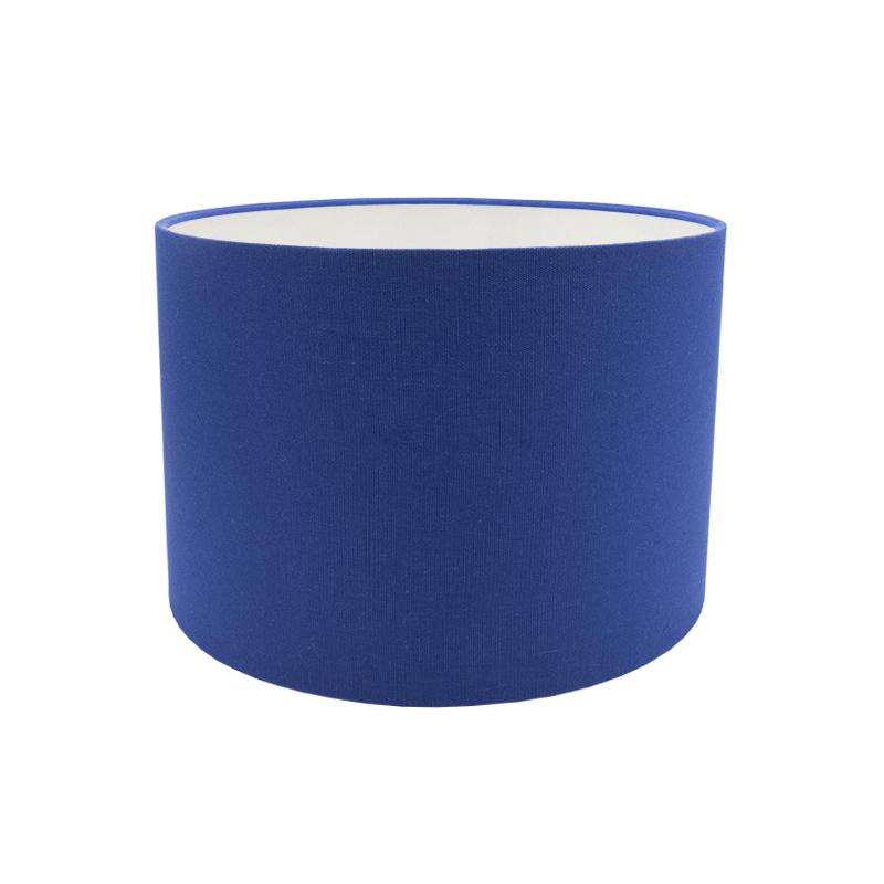 Bright Blue Cotton Drum Lampshade, Modern Lamp Shades Uk