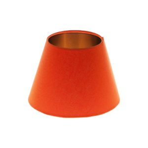 Bright Orange Empire Lampshade Brushed Copper Inner