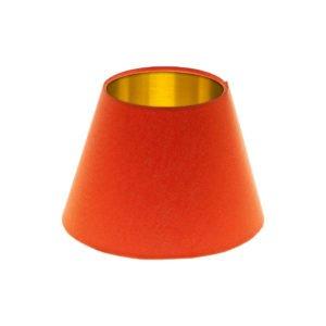 Bright Orange Empire Lampshade Brushed Gold Inner