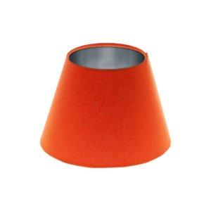 Bright Orange Empire Lampshade Brushed Silver Inner