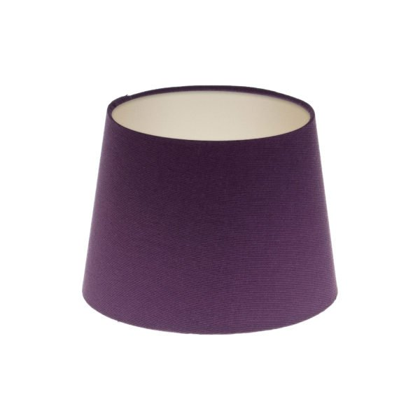 Bright Purple French Drum Lampshade Champagne Inner
