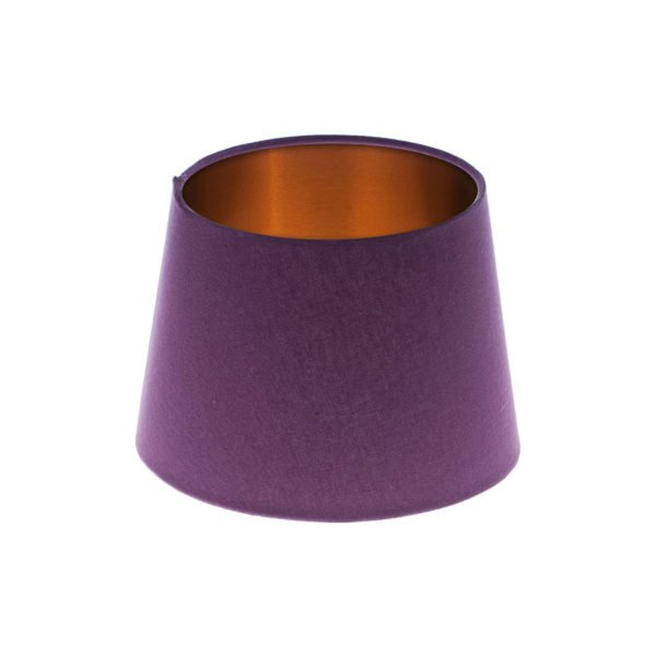 Bright Purple French Drum Lampshade Brushed Copper Inner