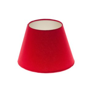Bright Red Empire Lampshade Champagne Inner