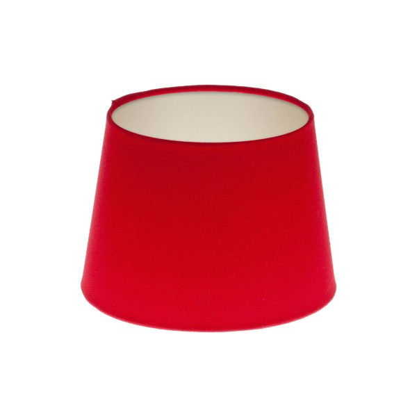 Bright Red French Drum Lampshade Champagne Inner