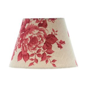 Bright Red Rose Floral Empire Lampshade