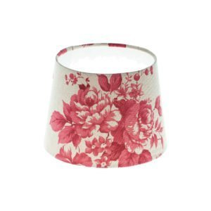 Bright Red Rose Floral French Drum Lampshade