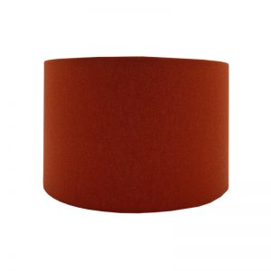 Burnt Orange Drum Lampshade