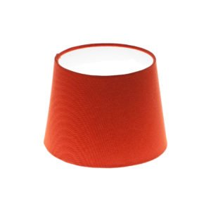 Burnt Orange French Drum Lampshade