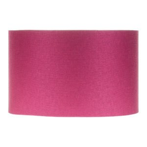 Bright Pink Satin Drum Lampshade