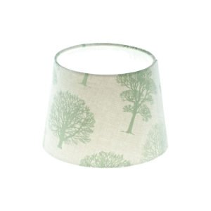 Green Trees French Drum Lampshade