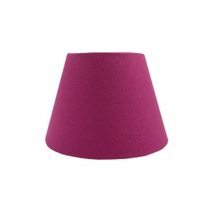 Bright Pink Satin Empire Lampshade
