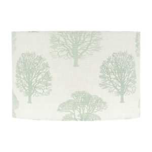 Green Trees Drum Lampshade