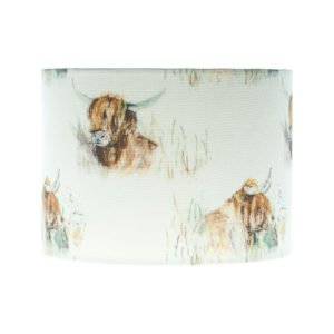 Highland Cattle Drum Lampshade