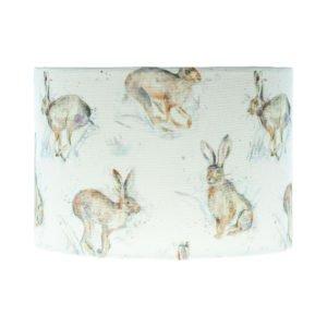 Hurtling Hare Drum Lampshade