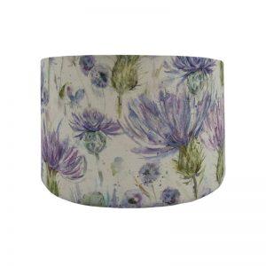 Voyage Thistle Floral Drum Lampshade