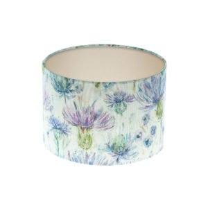 Thistle Floral Drum Lampshade Champagne Inner
