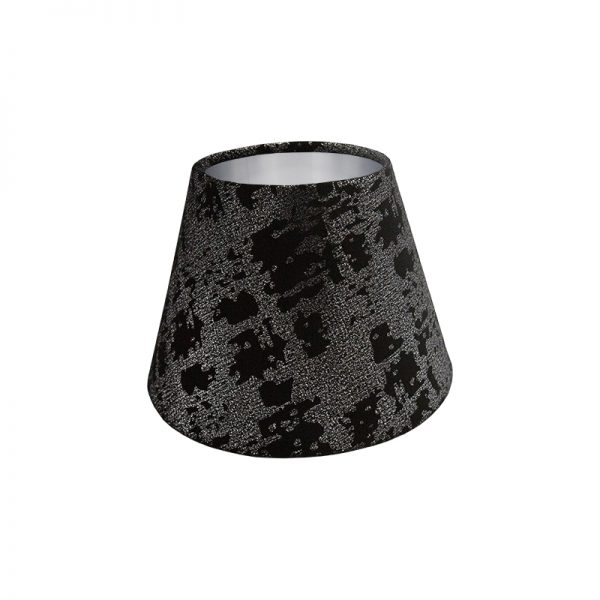 Mercury Black Velvet Empire Lampshade