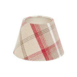 Balmoral Cranberry Tartan Empire Lampshade Champagne Inner