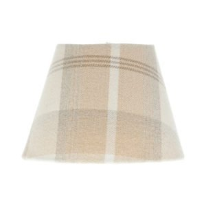 Balmoral Natural Tartan Empire Lampshade