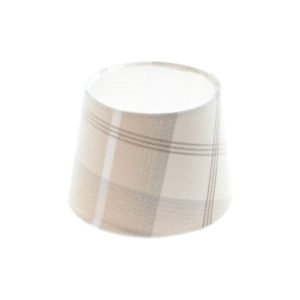 Balmoral Natural Tartan French Drum Lampshade