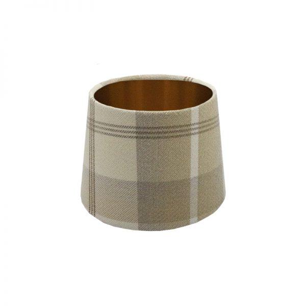 Balmoral Natural Tartan French Drum Lampshade