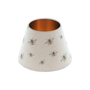 Bees Empire Lampshade Brushed Copper Inner