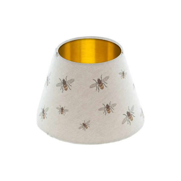 Bees Empire Lampshade Brushed Gold Inner