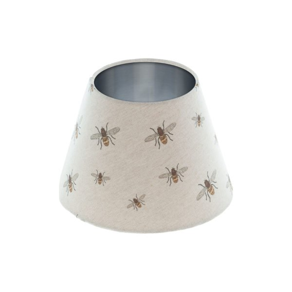 Bees Empire Lampshade Brushed Silver Inner