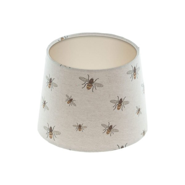 Bees French Drum Lampshade Champagne Inner