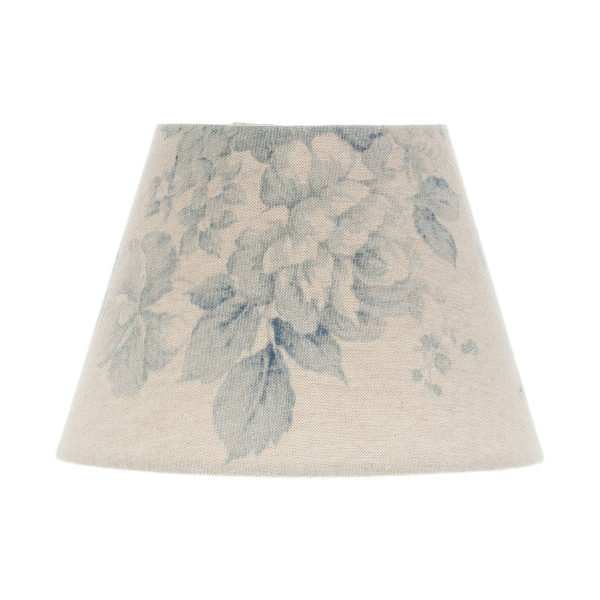 Blue Faded Rose Floral Empire Lampshade