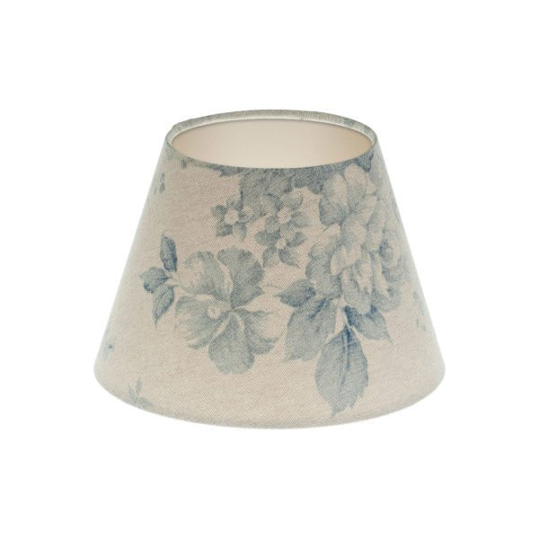 Blue Faded Rose Floral Empire Lampshade Champagne Inner