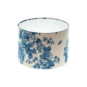 Bright Blue Rose Floral Drum Lampshade