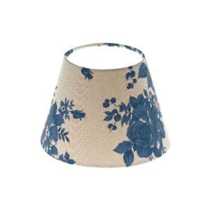 Bright Blue Rose Floral Empire Lampshade