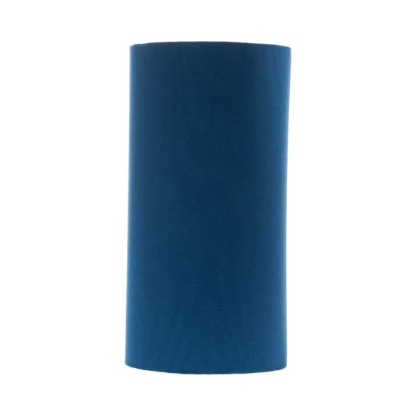 Bright Blue Tall Drum Lampshade