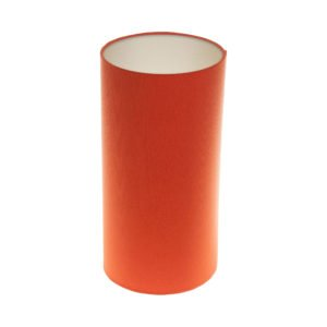 Bright Orange Tall Drum Lampshade Champagne Inner