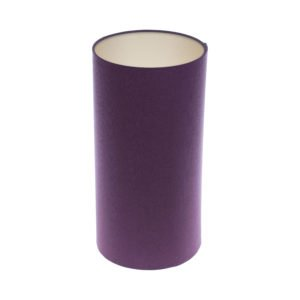 Bright Purple Tall Drum Lampshade Champagne Inner