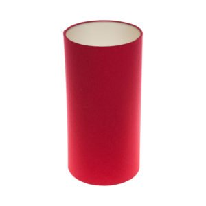 Bright Red Tall Drum Lampshade Champagne Inner