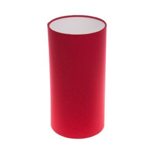 Bright Red Tall Drum Lampshade