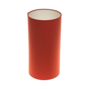 Burnt Orange Tall Drum Lampshade Champagne Inner